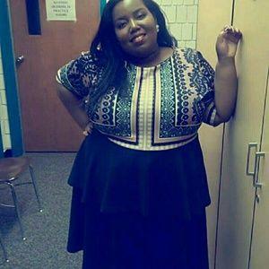 Eloquii Two Tier Midi Dress